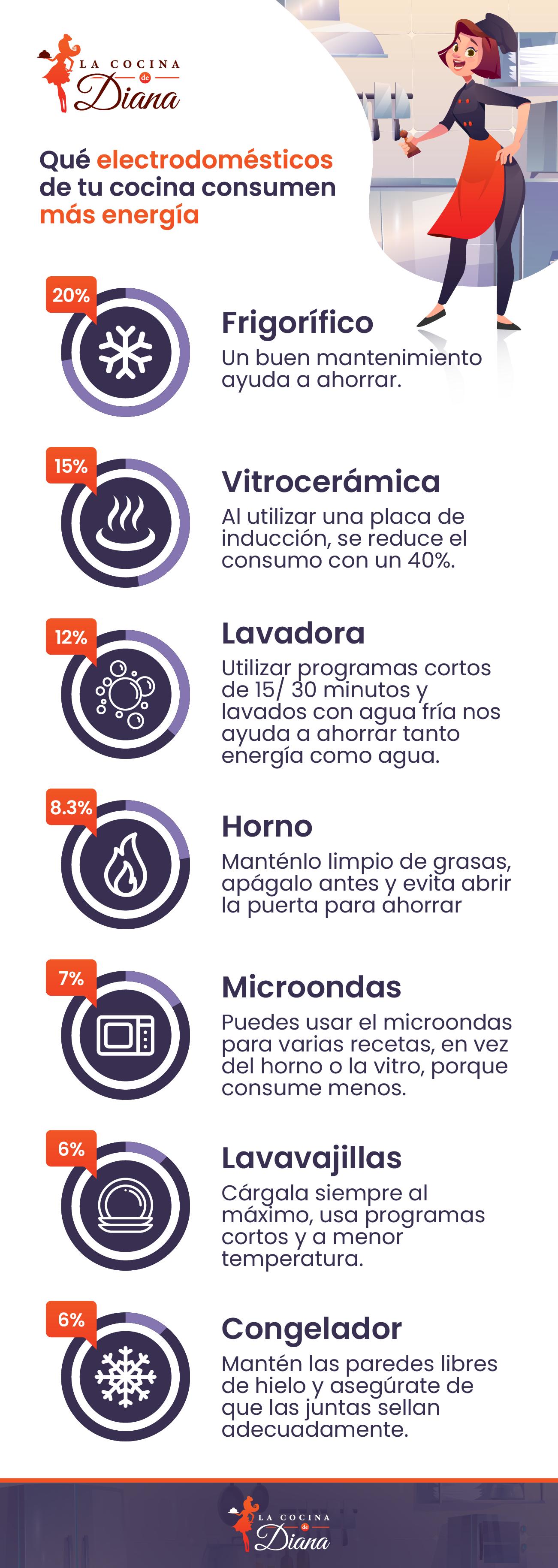 electrodomésticos consumo