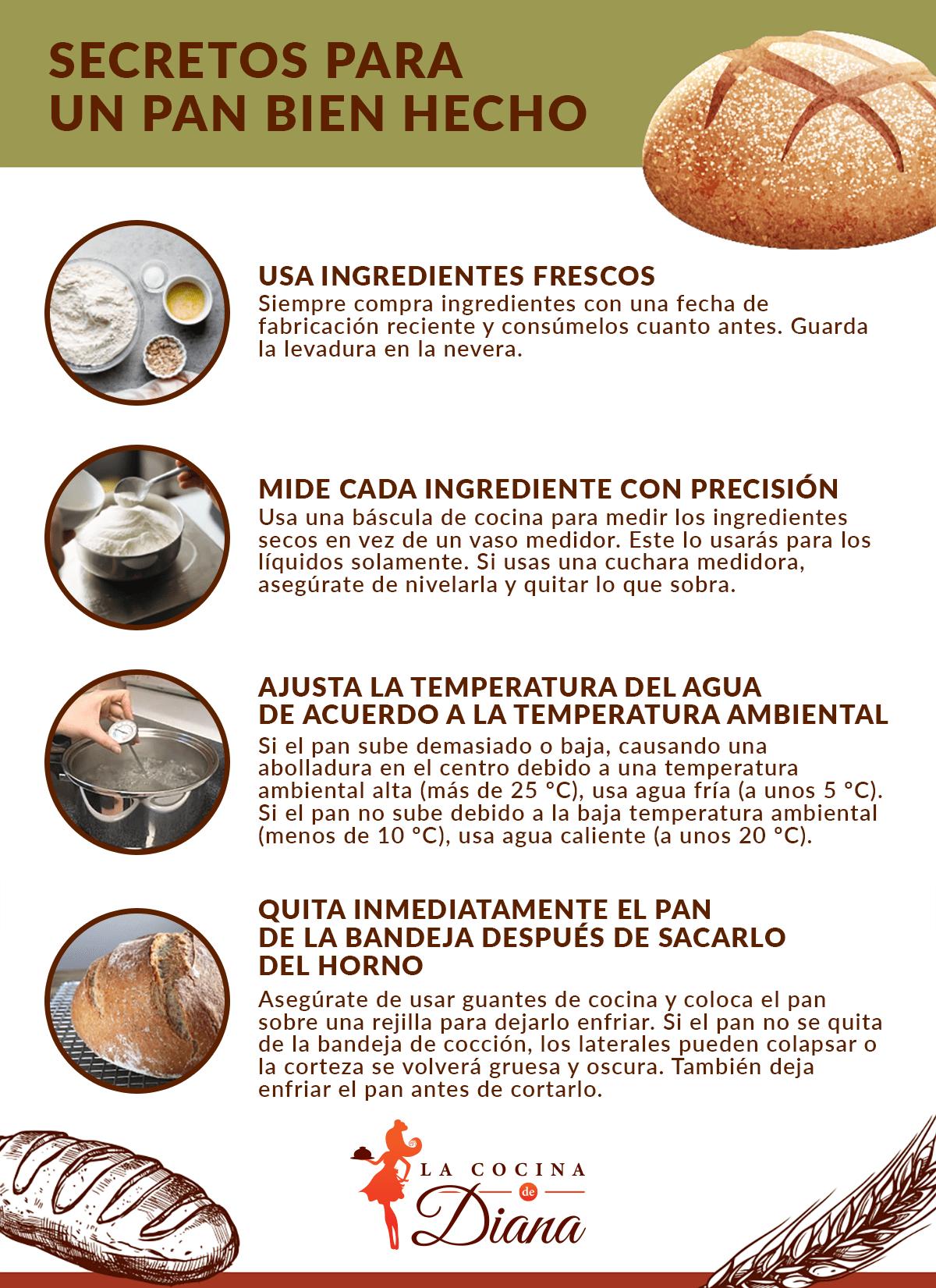 Pan bien hecho - lacocinadediana.com